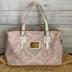 LOUIS VUITTON GM Pink Tahitienne Cabas